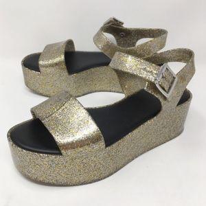 MELISSA | mar platform sandals in champagne